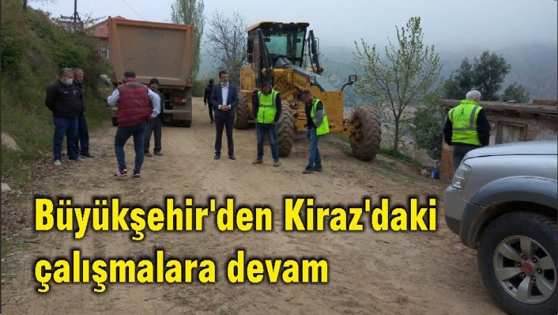 Büyükşehir'den Kiraz'daki çalışmalara devam