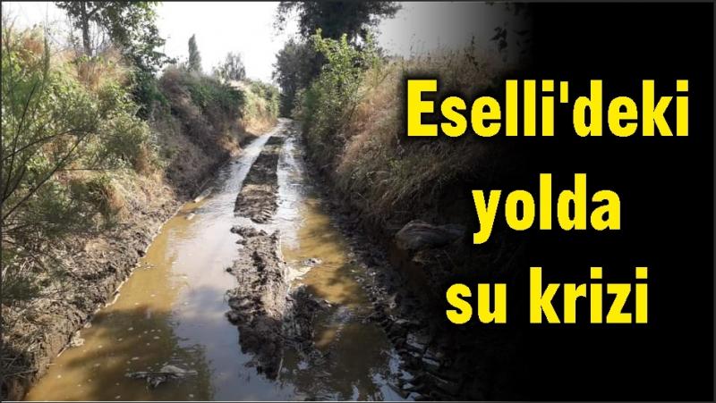Eselli'deki yolda su krizi