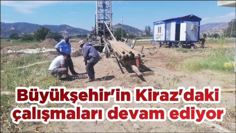 Büyükşehir'in Kiraz'daki çalışmaları devam ediyor