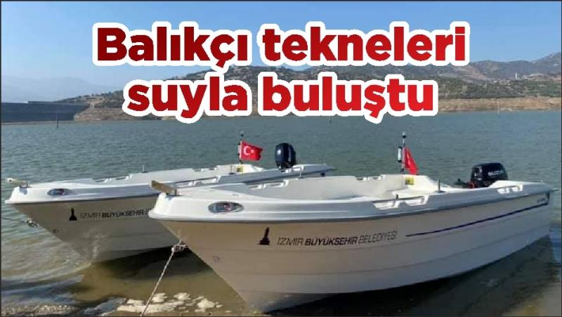 Balıkçı tekneleri suyla buluştu