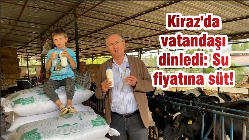 Kiraz'da vatandaşı dinledi: Su fiyatına süt!